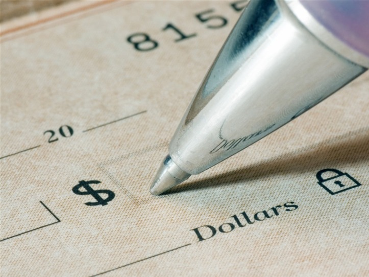 Image: Image: Stock picture of a check